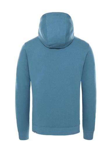 The North Face Drew Peak Pullover Hoodie Erkek Sweatshirt Mavi Renkli